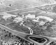 Aerial view of early TJHS campus